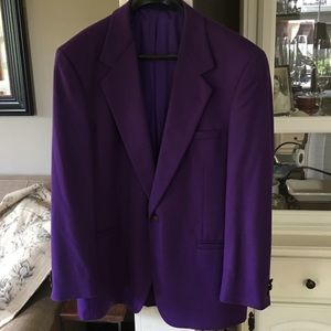 Versace V2 purple men's sport coat size 40 💜🤩